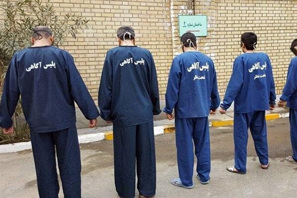 فیلم ، دستگیری 5 زورگیر مسلح توسط ماموران پلیس آگاهی