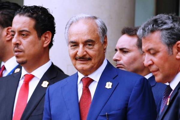 ژنرال خلیفه حفتر از فرآیند صلح در لیبی حمایت کرد